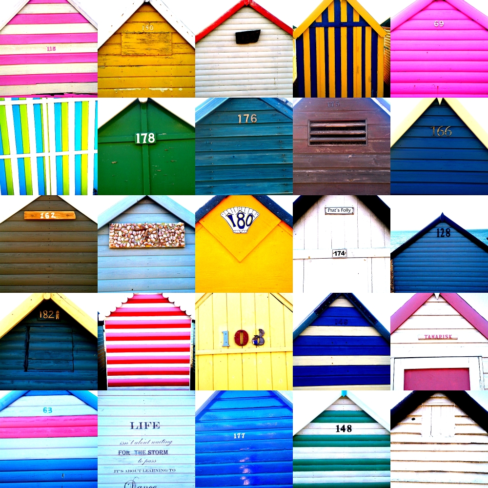 Herne Bay Beach Huts Collage