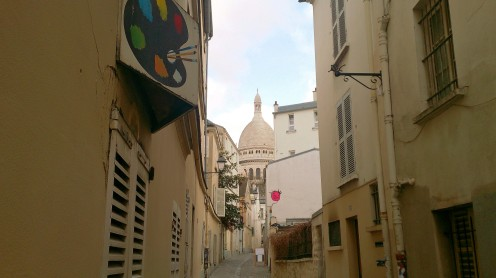Palette near Sacre Coeur, Paris